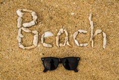 Concepto de la playa Fotografía de archivo libre de regalías