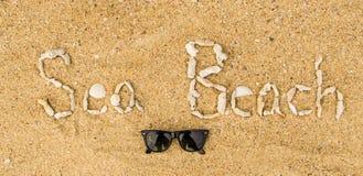 Concepto de la playa del mar Fotos de archivo libres de regalías