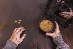 Concepto de la pobreza y de la ilusión Imagen de archivo