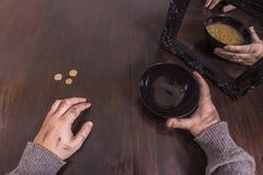 Concepto de la pobreza y de la ilusión Fotos de archivo