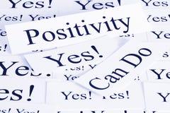 Concepto de la positividad Fotos de archivo