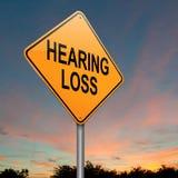 Concepto de la pérdida de oído. Imagen de archivo libre de regalías