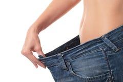 Concepto de la pérdida de peso. Imagen de archivo libre de regalías