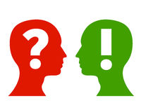 Concepto de la pregunta y de la respuesta Imagenes de archivo