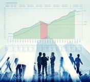 Concepto de la presentación de datos de las medidas del gráfico de negocio ilustración del vector