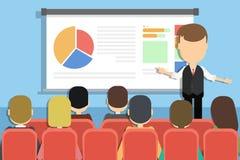 Concepto de la presentación del negocio stock de ilustración