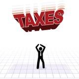 Concepto de la presión fiscal Imagen de archivo