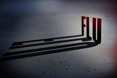 Concepto de la prevención de la gripe Imagen de archivo