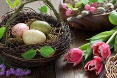 Concepto de la primavera y de Pascua Imagen de archivo libre de regalías