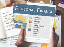 Concepto de la privacidad de la balanza de la información de las finanzas personales fotografía de archivo