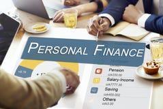 Concepto de la privacidad de la balanza de la información de las finanzas personales Foto de archivo