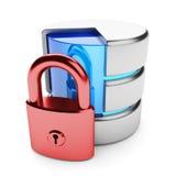 Concepto de la privacidad de la información Foto de archivo