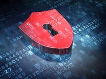 Concepto de la privacidad: Escudo en fondo digital Foto de archivo