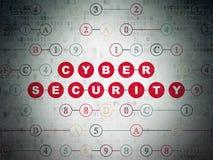 Concepto de la privacidad: Seguridad cibernética en el papel de Digitaces Foto de archivo