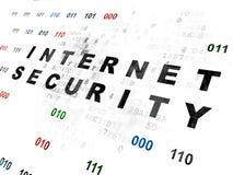 Concepto de la privacidad: Seguridad de Internet en Digitaces Imagen de archivo libre de regalías