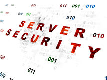 Concepto de la privacidad: Seguridad del servidor en Digitaces Imagenes de archivo