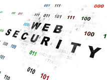 Concepto de la privacidad: Seguridad del web en Digitaces Imagen de archivo