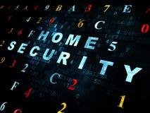 Concepto de la privacidad: Seguridad en el hogar en Digitaces Fotografía de archivo libre de regalías