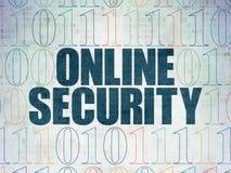 Concepto de la privacidad: Seguridad en línea en el papel de Digitaces Fotografía de archivo