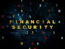 Concepto de la privacidad: Seguridad financiera en Digitaces Fotografía de archivo
