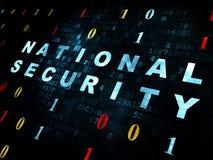 Concepto de la privacidad: Seguridad nacional en Digitaces Fotografía de archivo