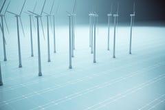 Concepto de la producción de electricidad Foto de archivo libre de regalías