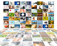 Concepto de la producción de la televisión aislado Imagen de archivo libre de regalías