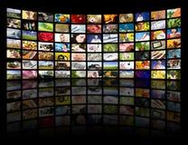 Concepto de la producción de la televisión. Los paneles de la película de la TV Fotografía de archivo libre de regalías