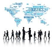 Concepto de la producción del servicio de carga de la gestión de logística fotografía de archivo
