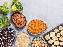 Concepto de la proteína del vegano Foto de archivo