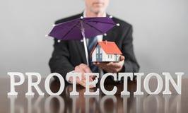 Concepto de la protección Foto de archivo libre de regalías