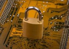 Concepto de la protección: cerradura de la seguridad Fotos de archivo libres de regalías