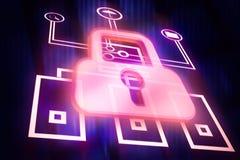 Concepto de la protección de la red Foto de archivo libre de regalías