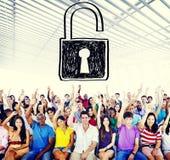 Concepto de la protección de seguridad de la privacidad de la contraseña de la accesibilidad imagenes de archivo