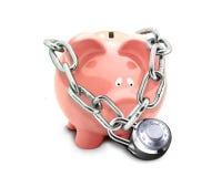 Concepto de la protección del ahorro Foto de archivo libre de regalías