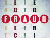 Concepto de la protección: fraude de la palabra en solucionar Foto de archivo