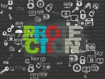 Concepto de la protección: Protección en fondo de la pared Imagen de archivo libre de regalías