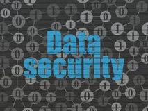 Concepto de la protección: Seguridad de datos en la pared Imagenes de archivo