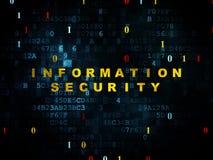 Concepto de la protección: Seguridad de información encendido Imagen de archivo libre de regalías