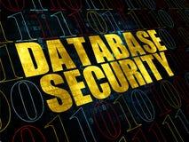 Concepto de la protección: Seguridad de la base de datos en Digitaces Fotos de archivo
