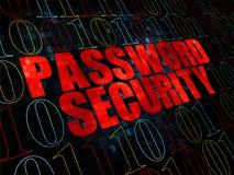Concepto de la protección: Seguridad de la contraseña en Digitaces Foto de archivo libre de regalías