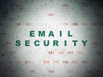 Concepto de la protección: Seguridad del correo electrónico en Digitaces Fotografía de archivo
