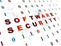 Concepto de la protección: Seguridad del software en Digitaces Imágenes de archivo libres de regalías