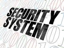 Concepto de la protección: Sistema de seguridad en Digitaces Foto de archivo libre de regalías