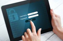 Concepto de la protección de datos Fotos de archivo libres de regalías