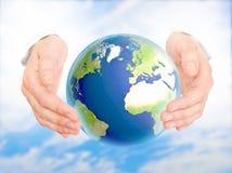 Concepto de la protección del medio ambiente. Foto de archivo