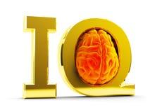 Concepto de la prueba del cociente de la inteligencia (índice de inteligencia) Fotografía de archivo