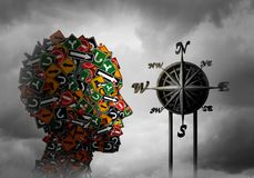 Concepto de la psicología del compás de la vida stock de ilustración