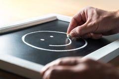 Concepto de la psicología, de la psiquiatría y de la salud mental Depresión y ansiedad que luchan Positivo de la estancia Buenas  imágenes de archivo libres de regalías