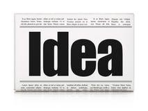 Concepto de la publicidad: idea del título de periódico stock de ilustración